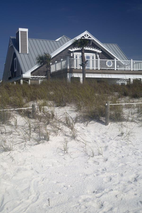 Casa di legno sulla spiaggia fotografia stock libera da diritti