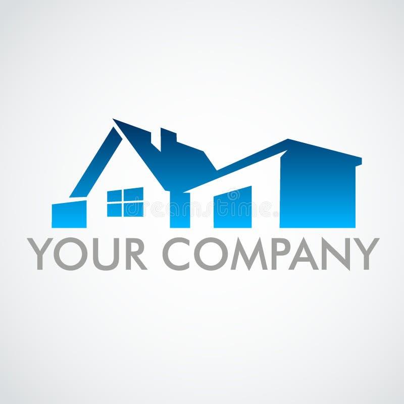 Casa di logo Logo per il marchio di fabbrica della società immagini stock
