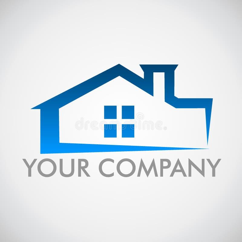 Casa di logo Logo per il marchio di fabbrica della società immagine stock libera da diritti