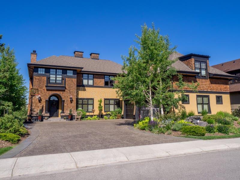 Casa di lusso, Calgary immagini stock libere da diritti