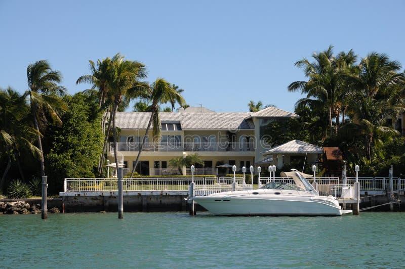 Casa di lusso in Florida fotografia stock