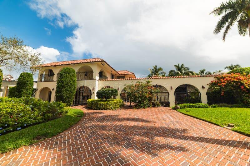 Casa di lusso in Florida del sud fotografie stock