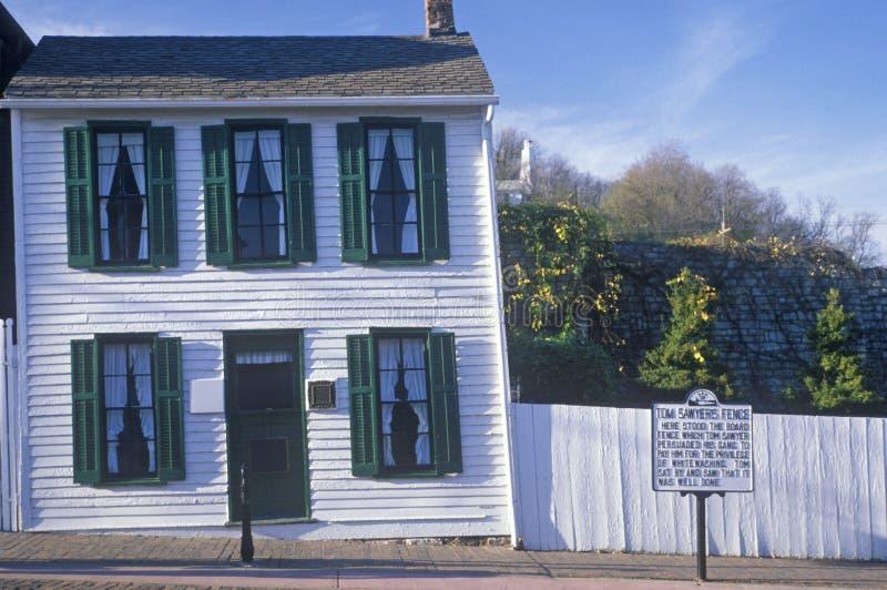 Casa di Mark Twain, Hannibal, Mo fotografie stock libere da diritti