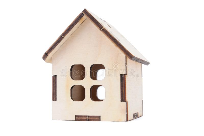 Casa di modello del giocattolo miniatura fotografia stock libera da diritti