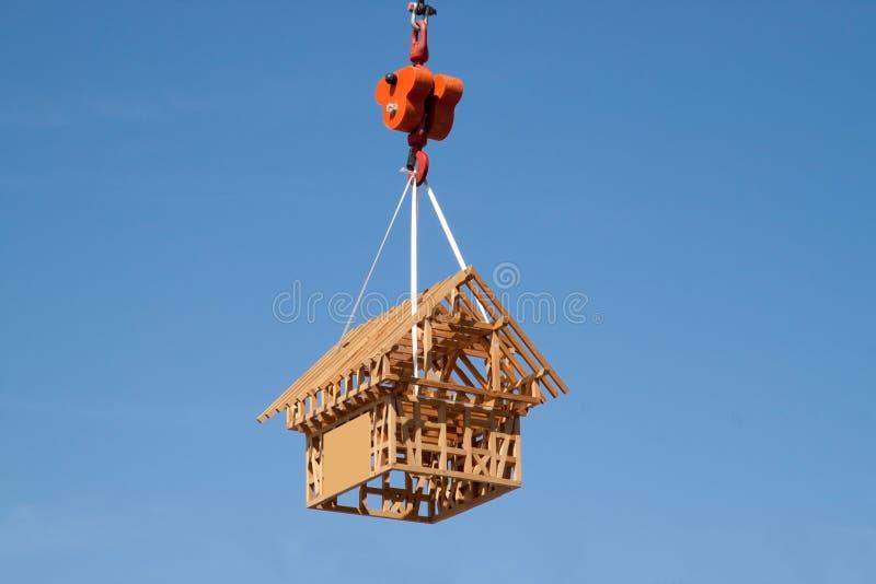 Casa di modello di legno immagini stock libere da diritti