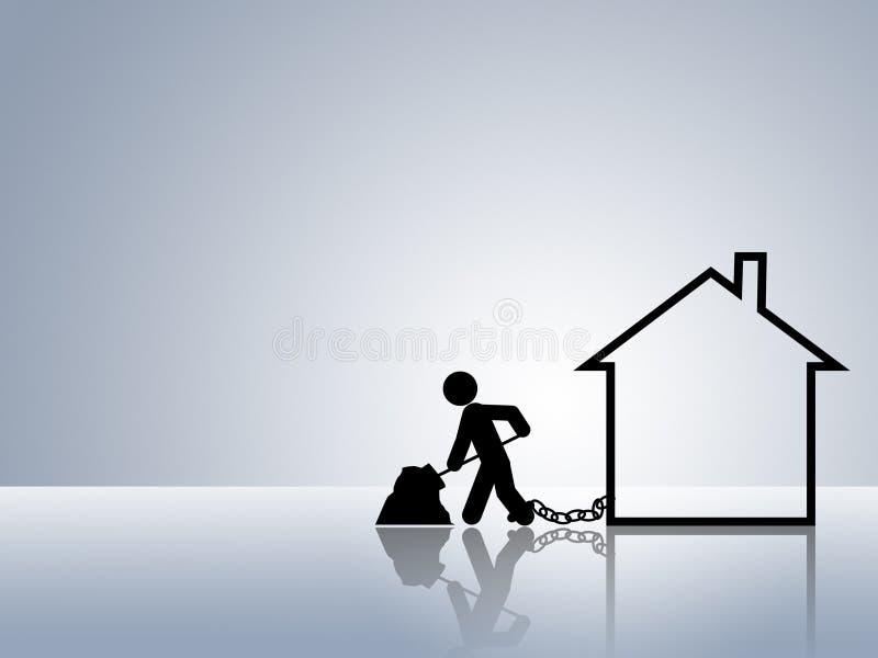 Casa di mutuo ipotecario di paga del bene immobile royalty illustrazione gratis