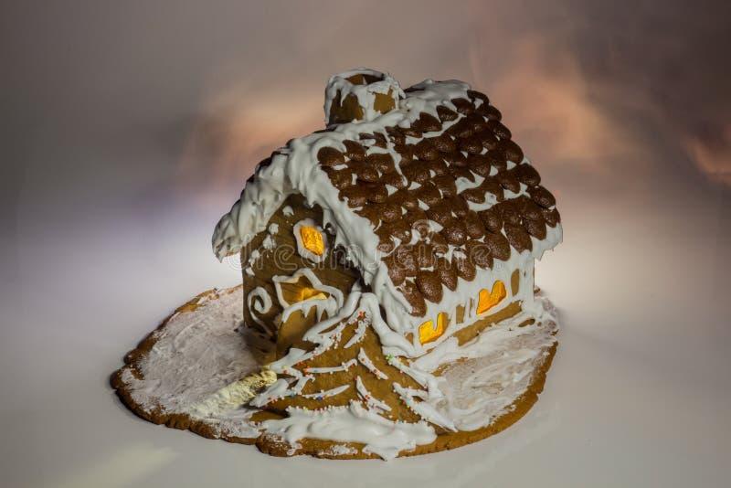Casa di Natale del pan di zenzero fotografie stock