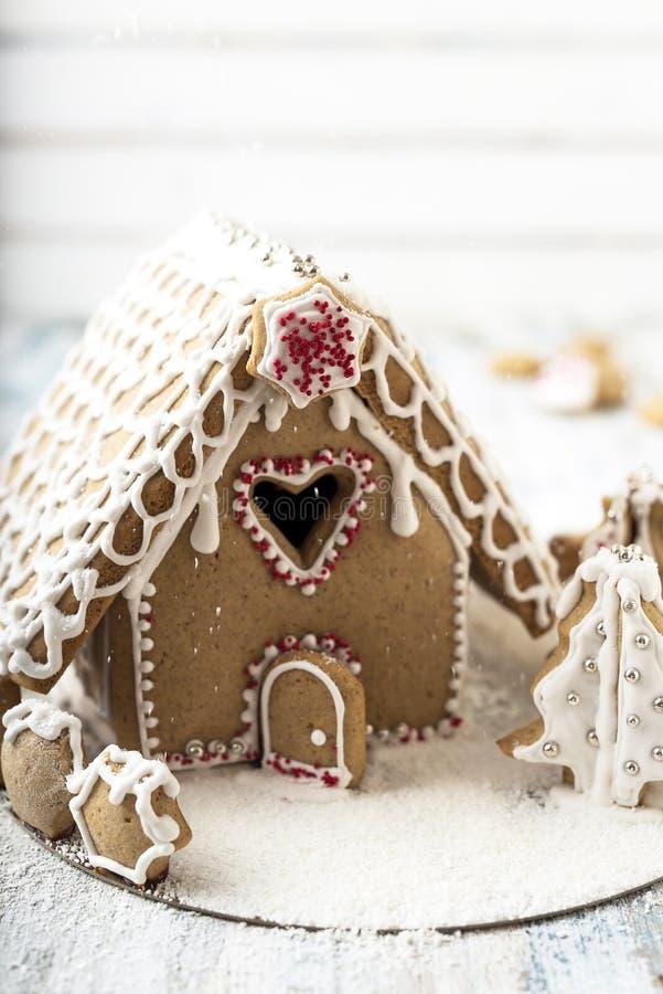 Casa di Natale del pan di zenzero fotografia stock
