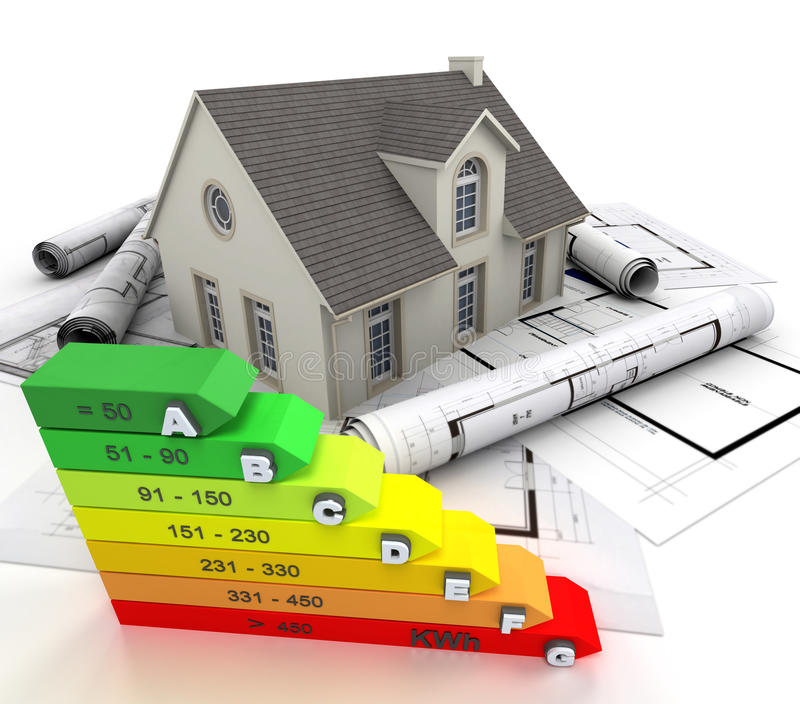 Casa di ottimo rendimento illustrazione vettoriale
