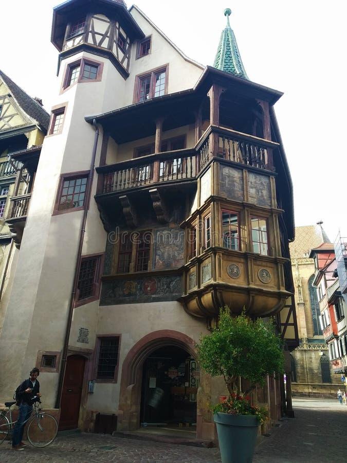 Casa di Pfister, Colmar Alsacia, Francia immagini stock libere da diritti