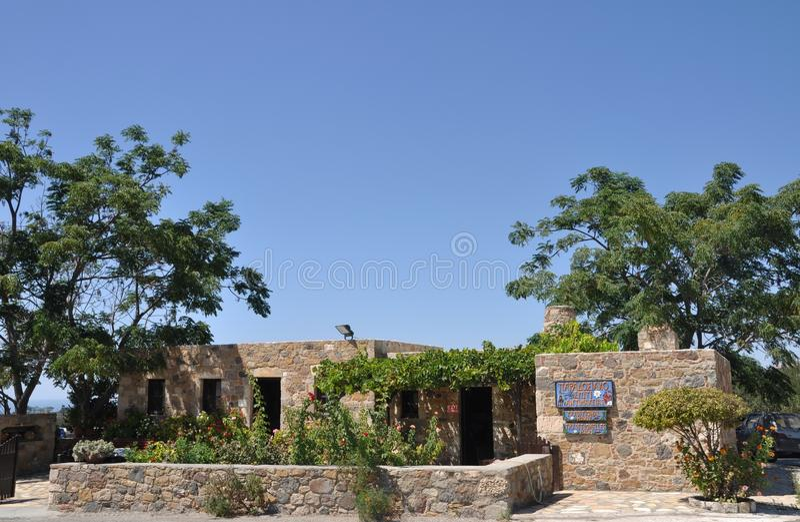 Casa di pietra greca fotografia stock libera da diritti