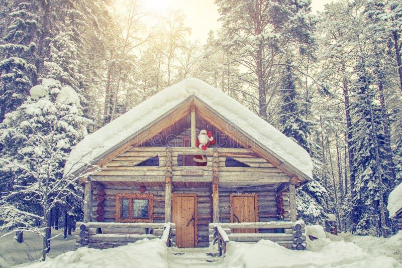 Casa di Santa Claus al polo nord fotografie stock