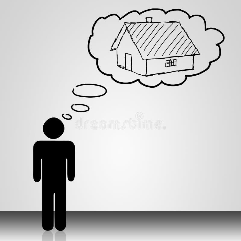 Casa di sogno illustrazione vettoriale
