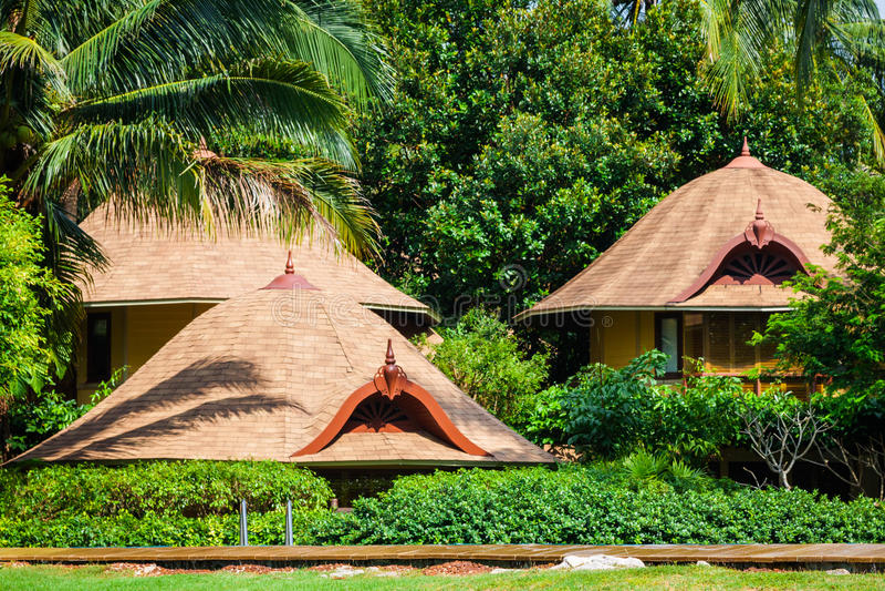 Casa di spiaggia tropicale sull'isola Koh Samui, Tailandia fotografia stock