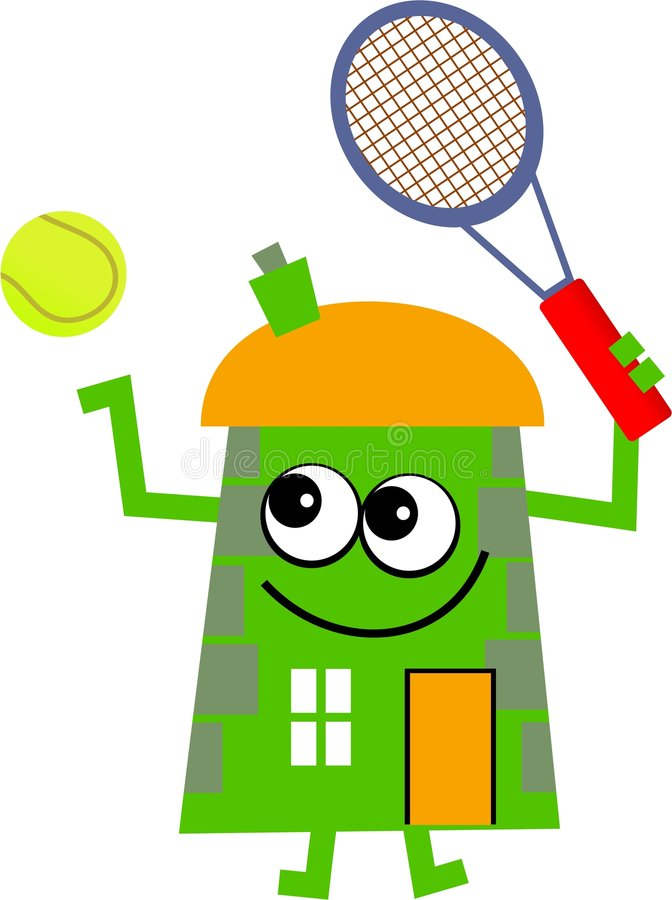 Casa di tennis illustrazione vettoriale