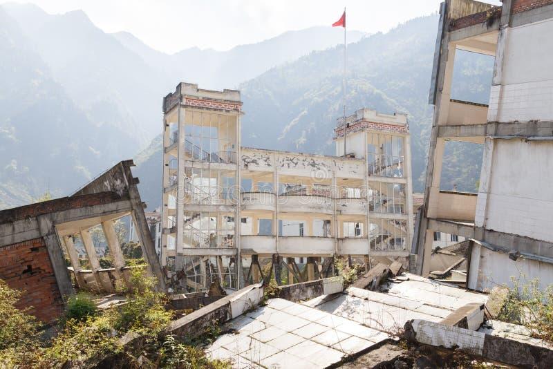 Casa di terremoto fotografia stock libera da diritti