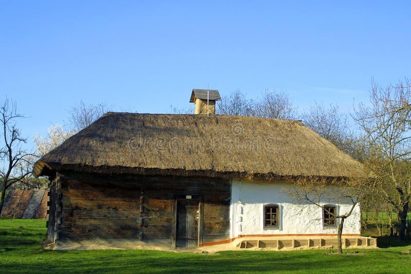 Casa di tetto thatched tipica fotografia stock libera da diritti