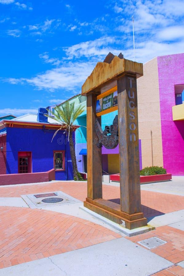 Casa di Tucson Adobe fotografia stock