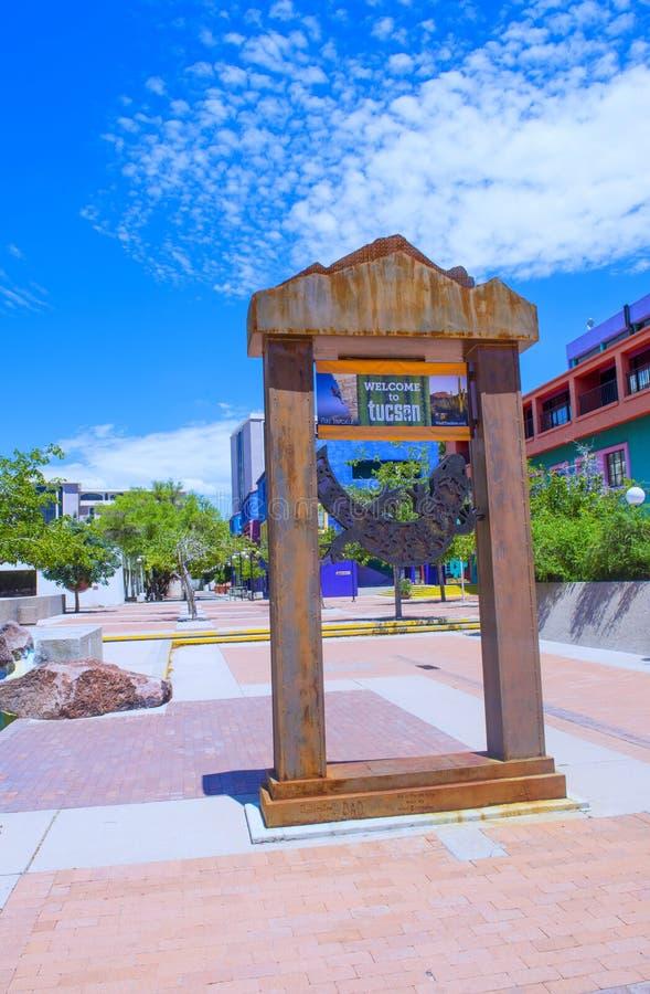 Casa di Tucson Adobe immagini stock
