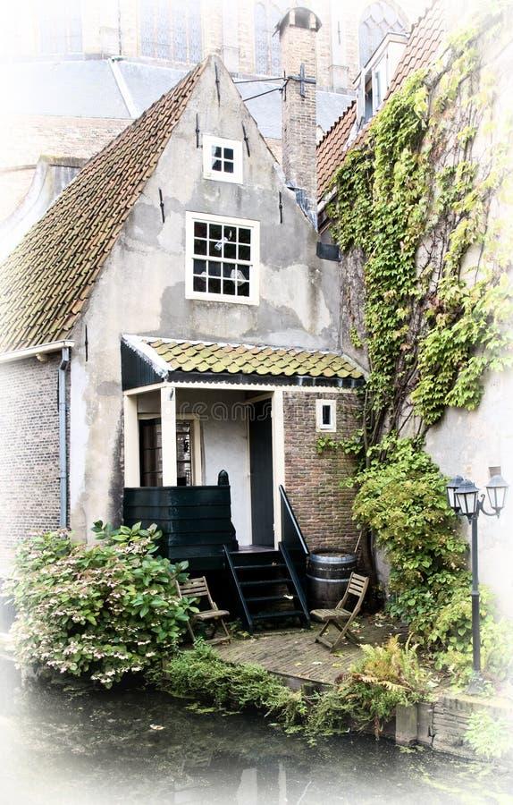 Casa di vecchio stile Delft, Paesi Bassi immagini stock