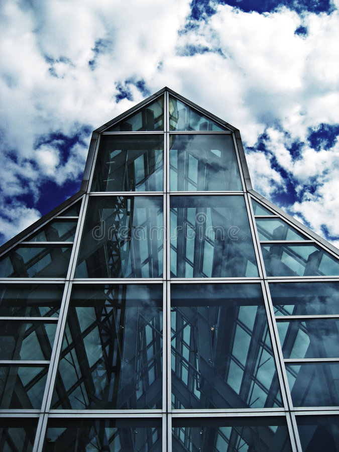 Casa di vetro fotografia stock