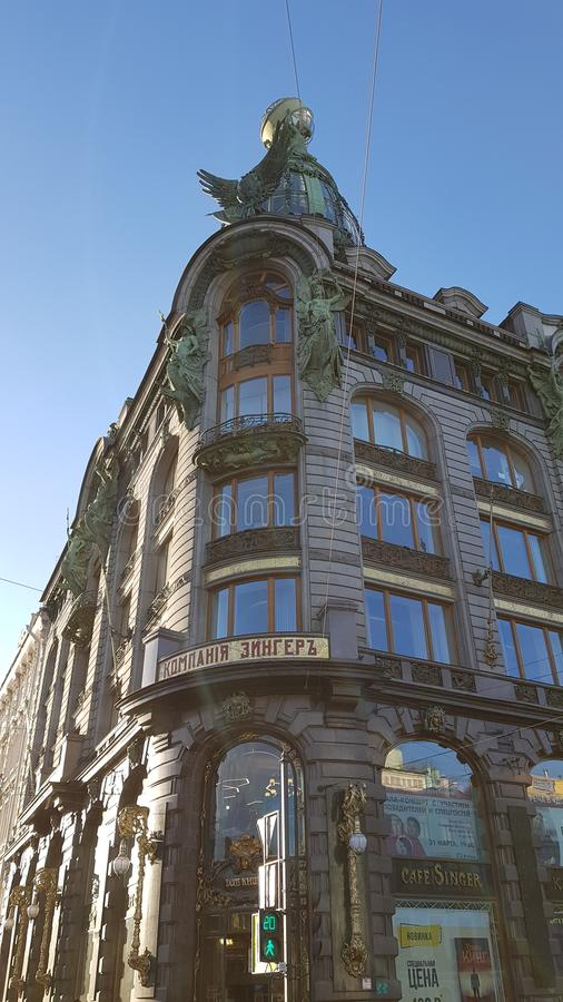 Casa di Zinger in San Pietroburgo immagine stock libera da diritti
