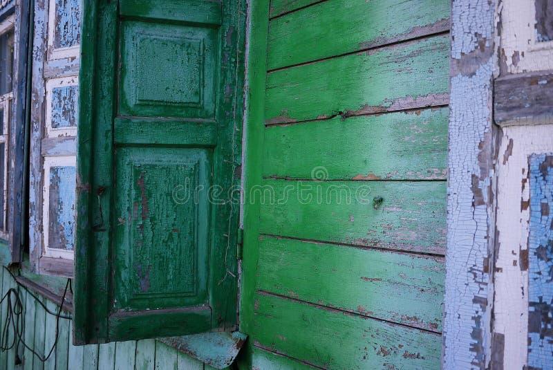 Casa dilapidata nel villaggio Dettagli e primo piano fotografia stock