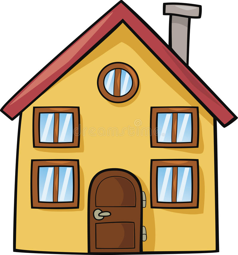 Casa divertida libre illustration
