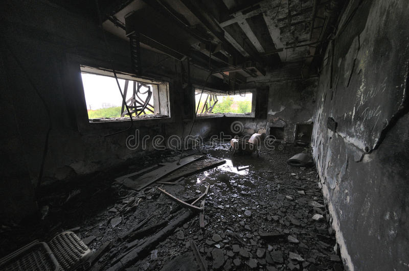 Casa do abandono imagem de stock royalty free