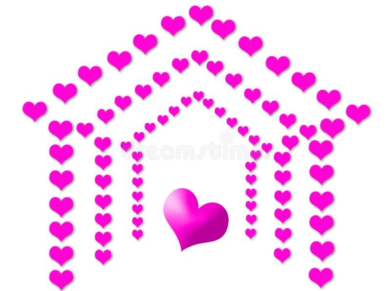 Casa do amor ilustração stock