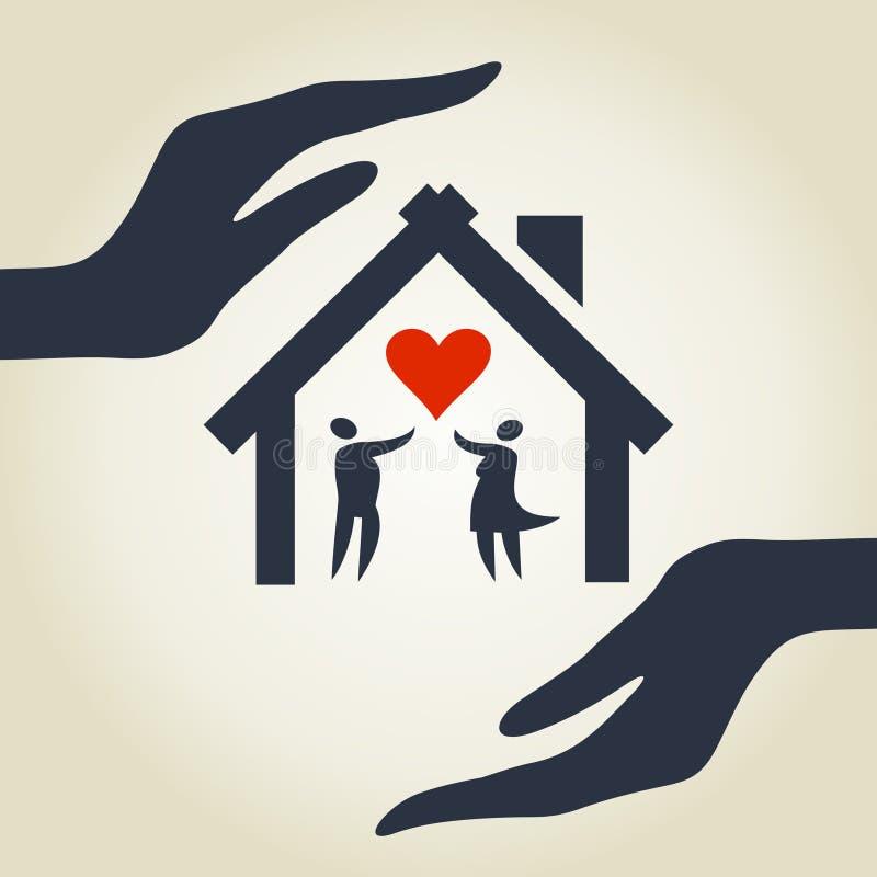 Casa do amor ilustração royalty free