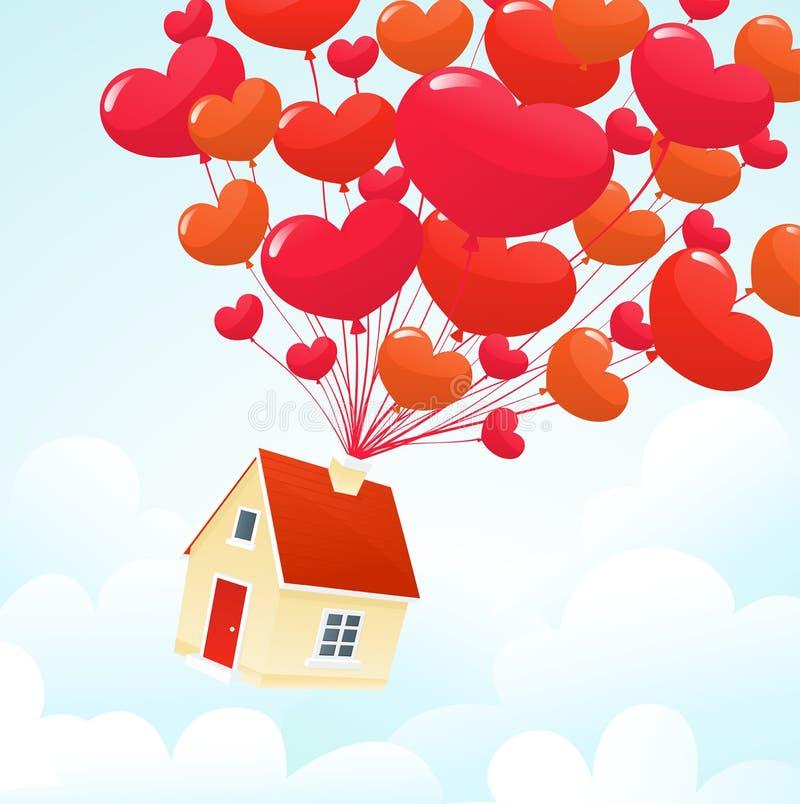 Casa do amor ilustração do vetor