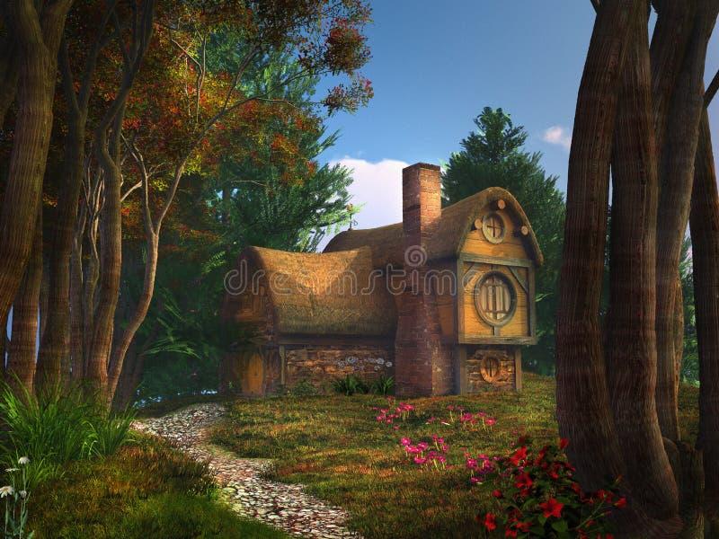 Casa do anão ilustração stock
