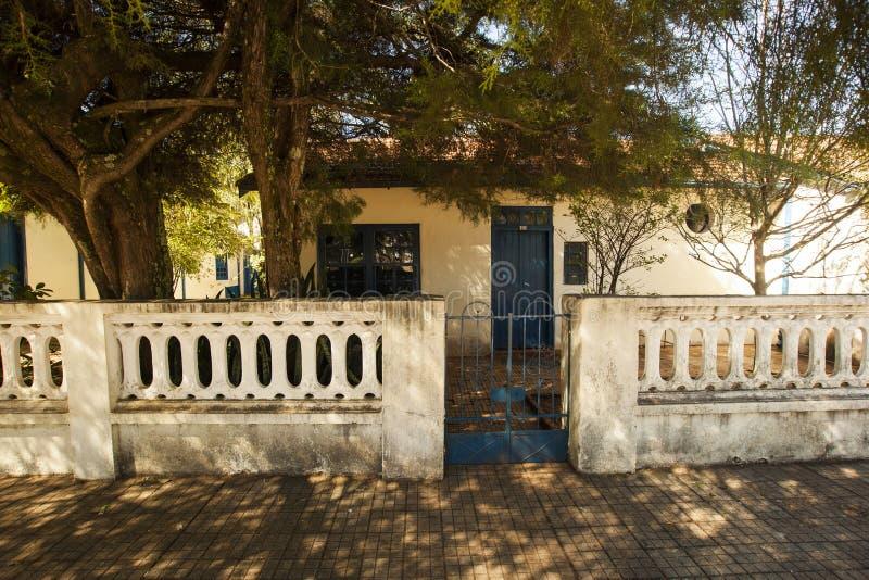Casa do artista Cândido Portinari na cidade de Brodowski - São Paulo - Brasil Em março de 2017 foto de stock