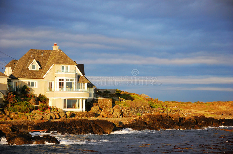 Casa do beira-mar imagens de stock