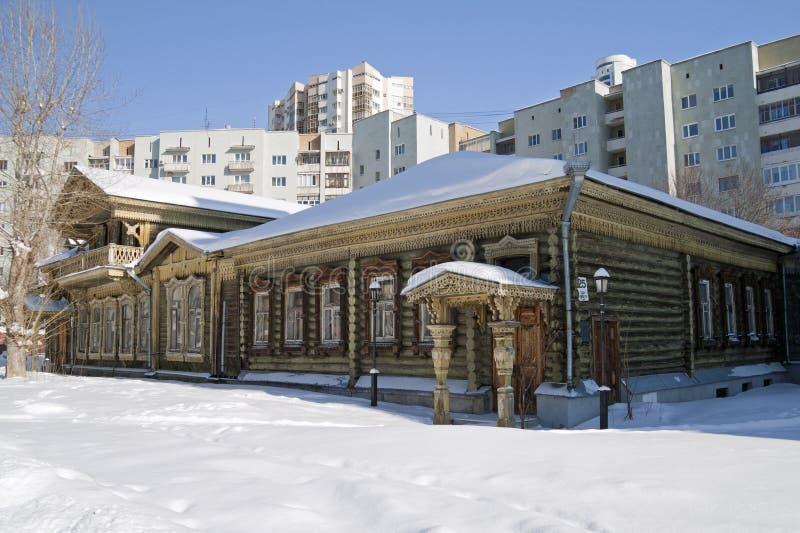 A casa do camponês de K.M.Panov em Ekaterinburg imagens de stock