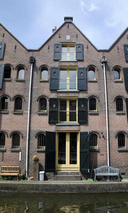Casa do canal da história do Dutch quatro fotografia de stock royalty free