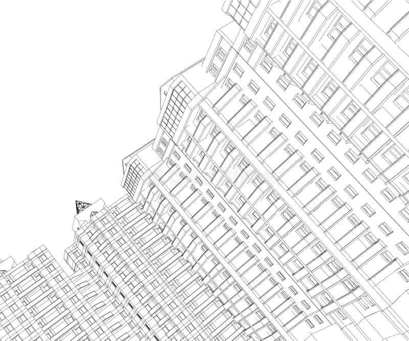 Casa do circuito ilustração do vetor