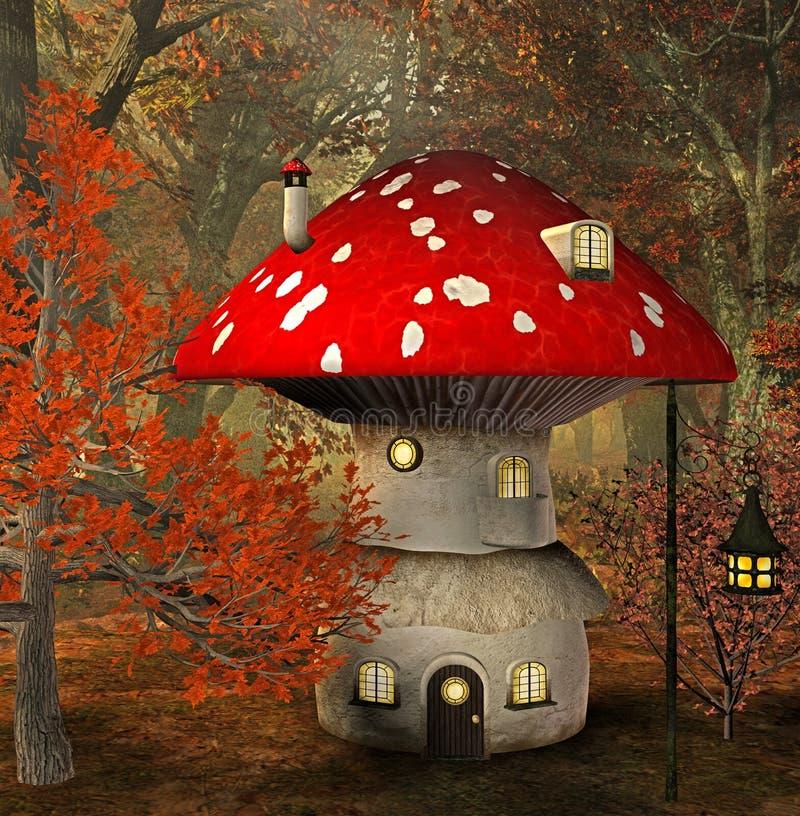 Casa do cogumelo ilustração do vetor