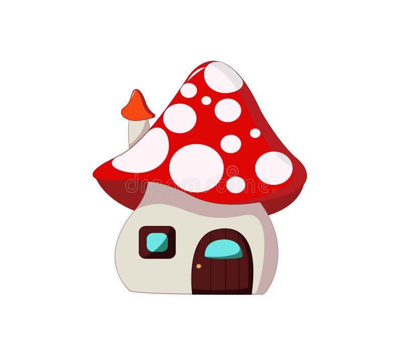 Casa do cogumelo da fantasia ilustração royalty free