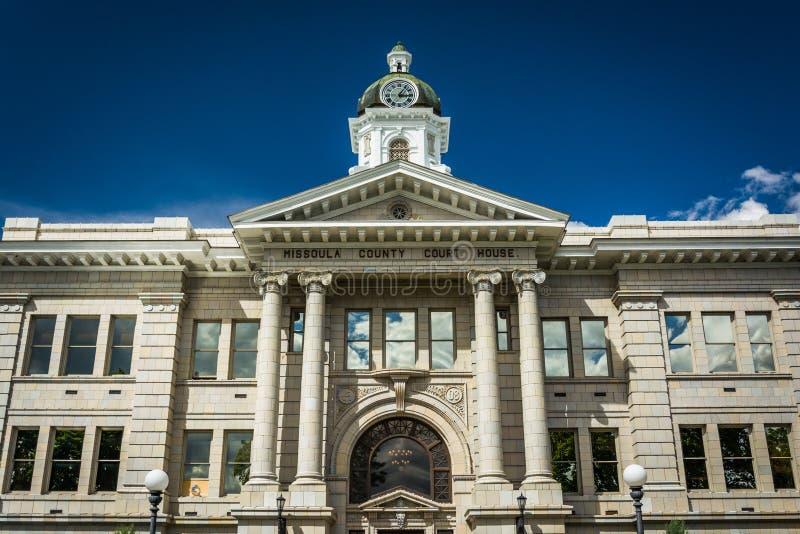 A casa do curso de Missoula County em Missoula, Montana fotos de stock royalty free