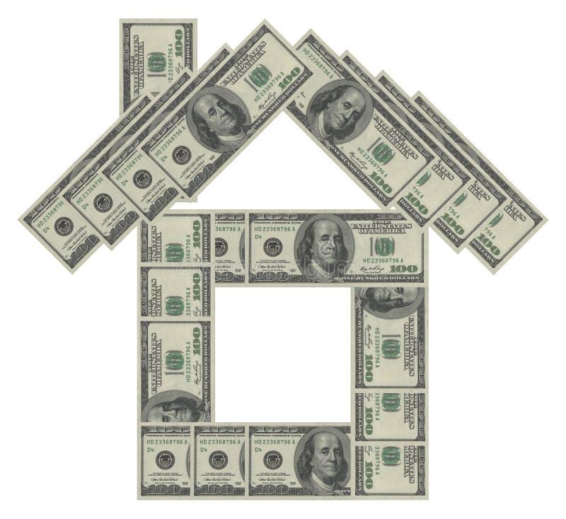 Casa do dólar imagens de stock royalty free