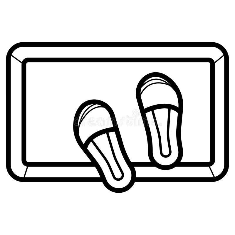 Casa do deslizador do ícone dos deslizadores ilustração do vetor