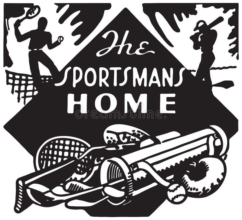 A casa do desportista ilustração stock