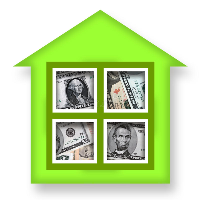 Casa do dinheiro ilustração stock