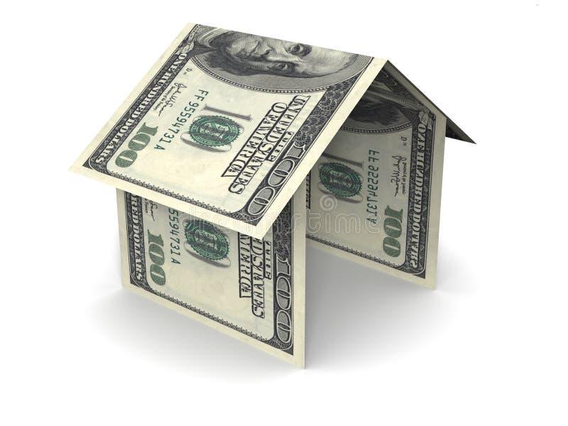 Casa do dinheiro imagem de stock royalty free