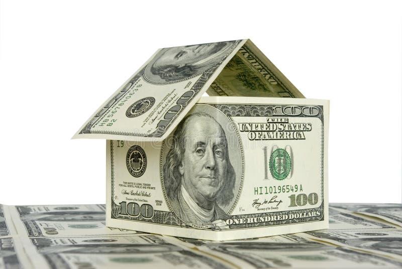 Casa do dinheiro imagem de stock