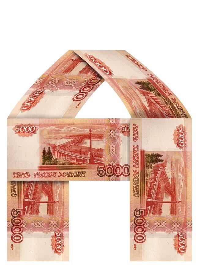 A casa do dinheiro do russo fotos de stock