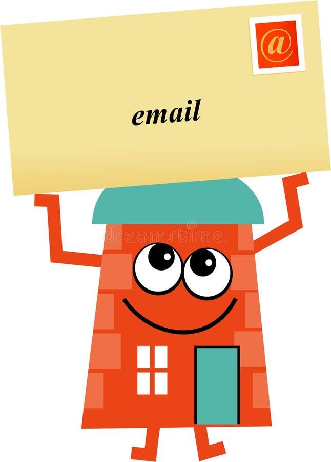 Casa do email ilustração royalty free