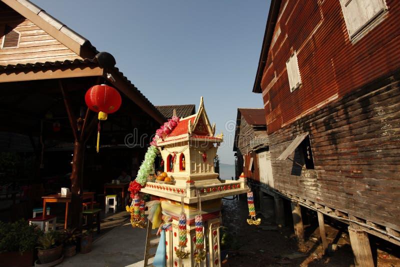 Casa do espírito em Tailândia imagens de stock